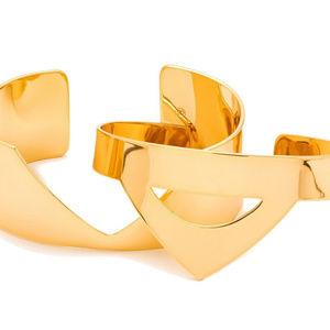 Gorjana  Set of 2 GOLD CUFF BRACELETS NEW CARTER